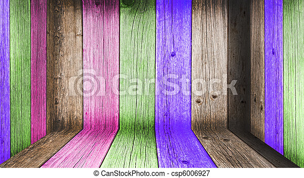 Creative Wooden Room. Welcome! More similar images available. - csp6006927