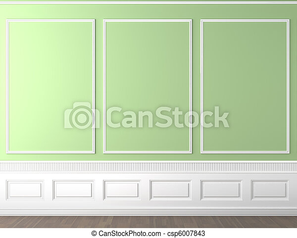 green classic wall copy space - csp6007843