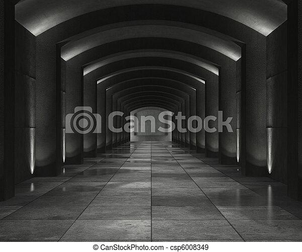 Interior concrete vault - csp6008349