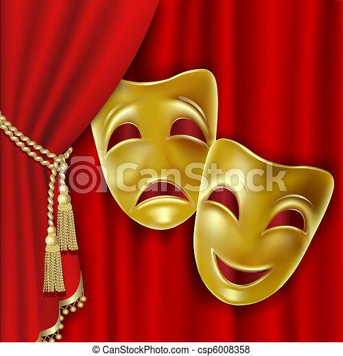 Theatrical masks - csp6008358