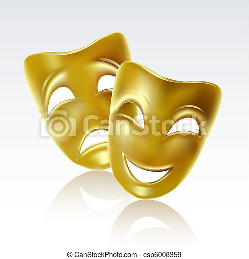 Theatrical masks - csp6008359
