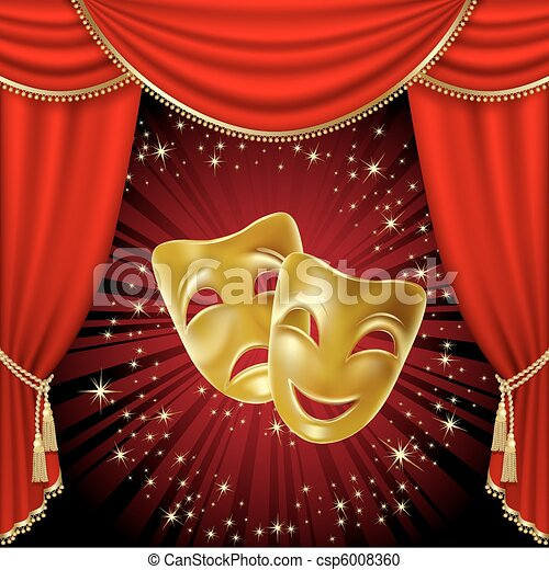 Theatrical masks - csp6008360