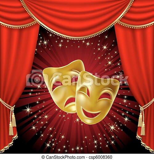 Theatrical masks - csp6008360