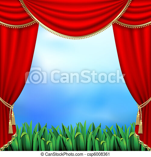 Theater curtains - csp6008361