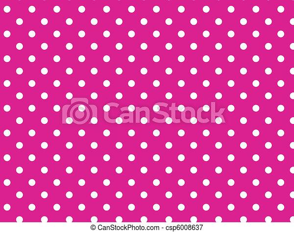 Vector eps 8 Pink Polka Dots - csp6008637