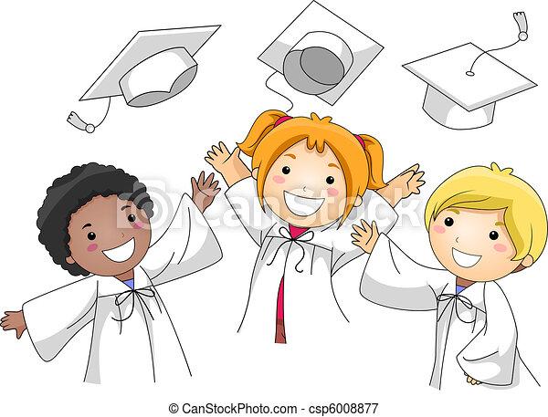 Graduation Cap Toss - csp6008877