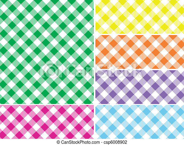 Woven Gingham Vector Swatches in 6 - csp6008902