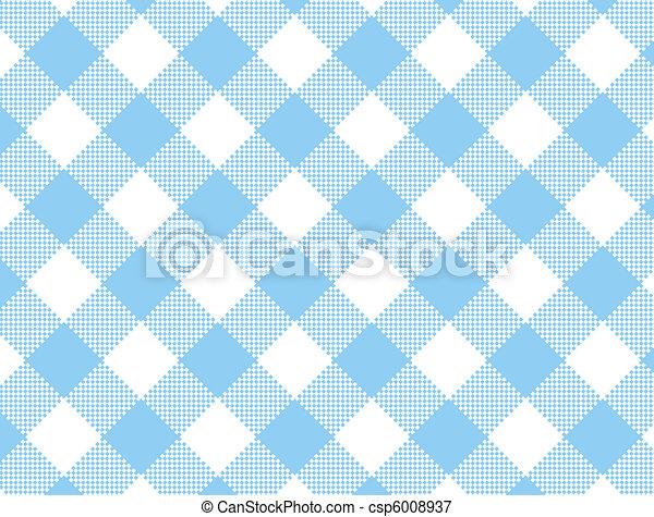 JPG Woven Blue Gingham  - csp6008937