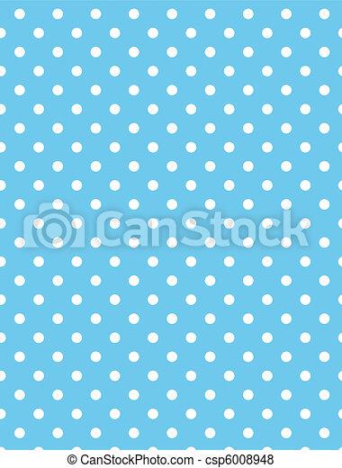 Vector eps 8 Blue Polka Dots - csp6008948