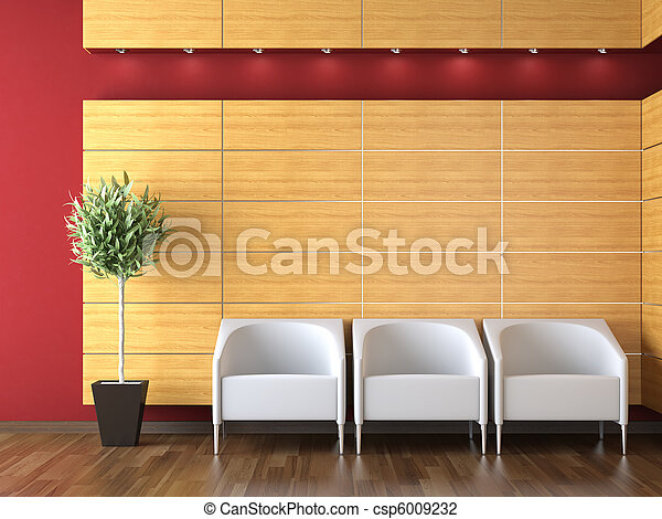 interior design of modern reception - csp6009232