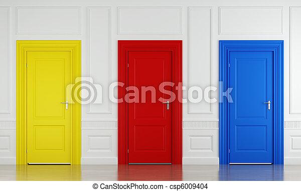 three color doors - csp6009404