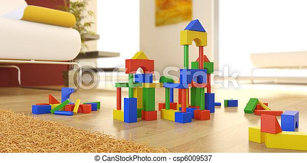 construction set in modern interior - csp6009537
