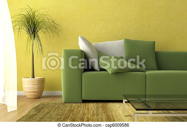 living room detail - csp6009586