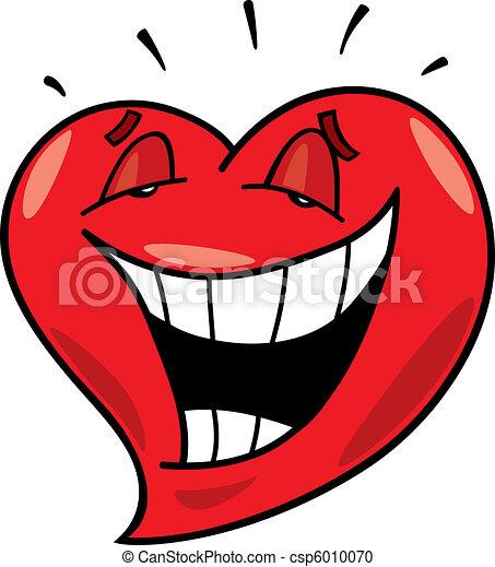 Clipart Vecteur de rire, coeur - dessin animé, Illustration, rire ...