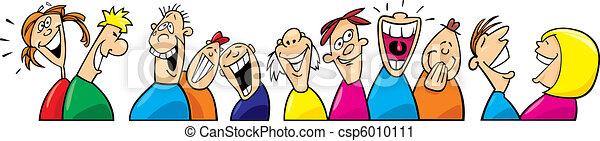 Laughing people - csp6010111