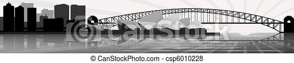 Sydney skyline - vector - csp6010228