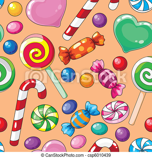 seamless pattern candies - csp6010439