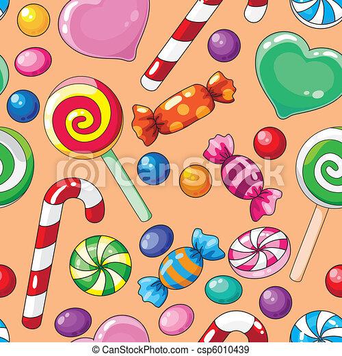 seamless pattern candies - csp6010439