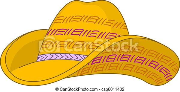 Straw hat - csp6011402