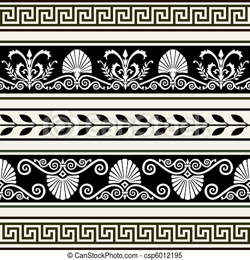 Set of antique borders - csp6012195