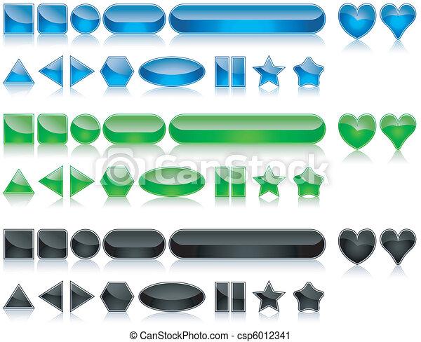 Shine Buttons Set - csp6012341