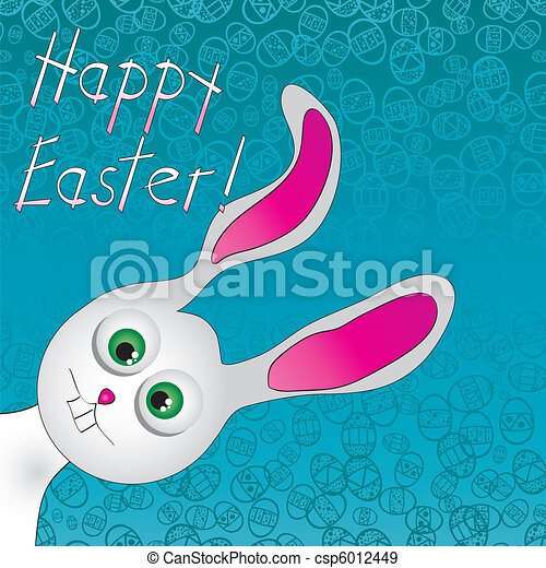 Cute Easter Bunny. Use to create fun Easter projects. Vector illustration - csp6012449