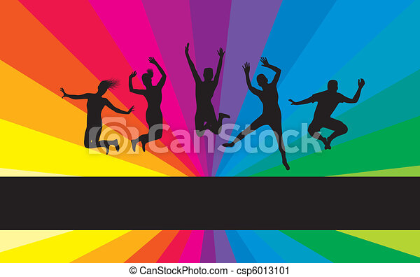 people jumping - csp6013101