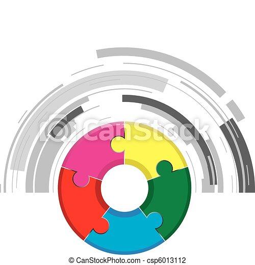 jigsaw background - csp6013112