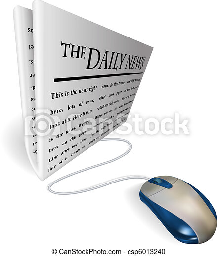 Mouse and  news paper concept - csp6013240