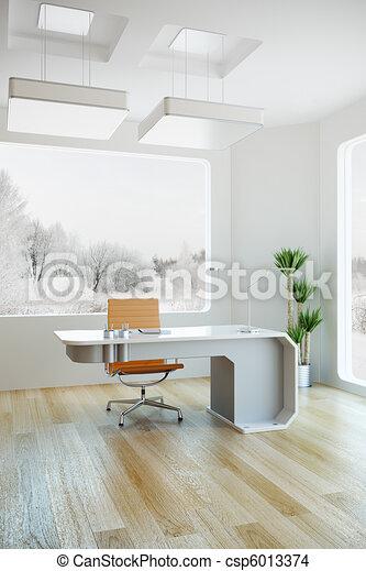 interior design of modern office - csp6013374
