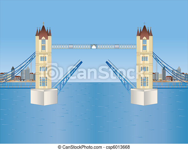 open tower bridge in London - csp6013668