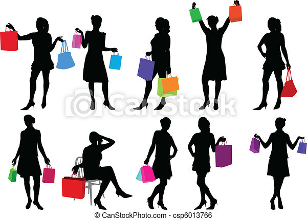 shopping girls - csp6013766