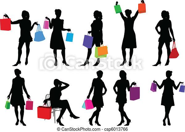 shopping girls - csp6013766