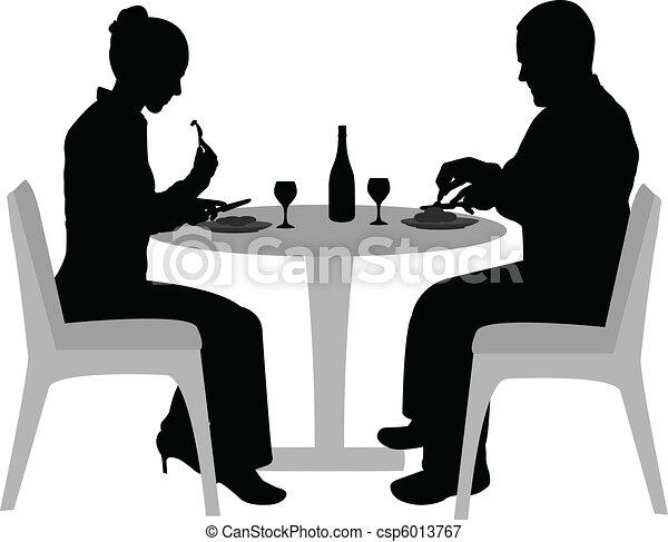couple dining  - csp6013767