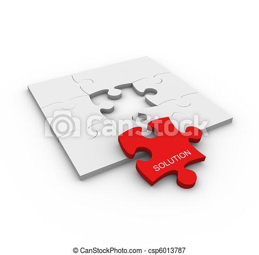 Concept of problem solution - csp6013787