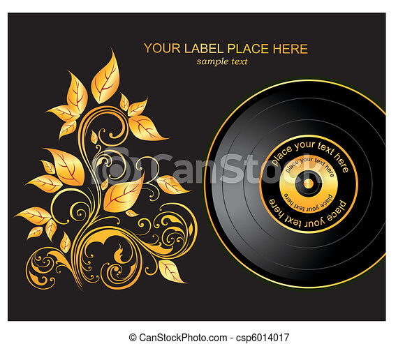 Vector illustration with plate and  - csp6014017