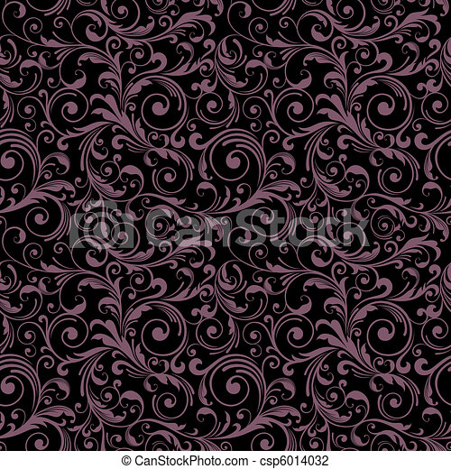 decoretive damask pattern backgroun - csp6014032