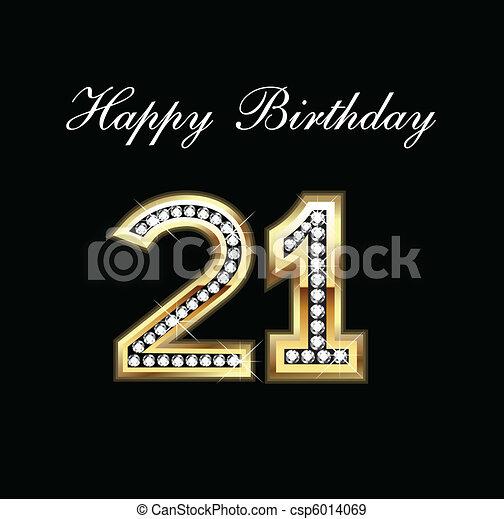 Happy Birthday 21 - csp6014069