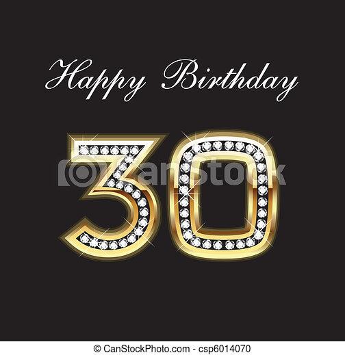 Happy Birthday 30 - csp6014070