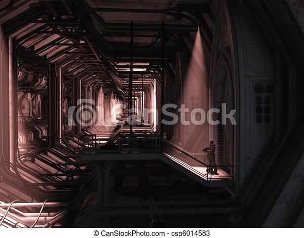 espacio, marina, -, solitario, guardia - csp6014583
