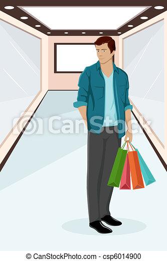 Urban Guy sitting on Sale - csp6014900