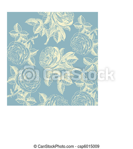 Classical wall-paper with a flower  - csp6015009