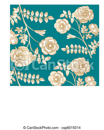 Classical wall-paper with a flower  - csp6015014