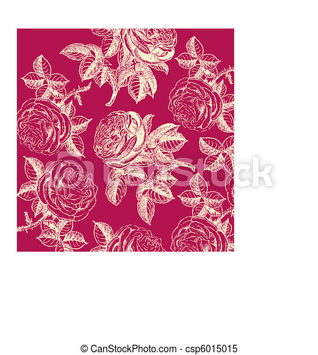 Classical wall-paper with a flower - csp6015015