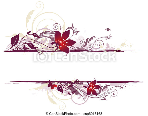 floral background with violet flowers - csp6015168