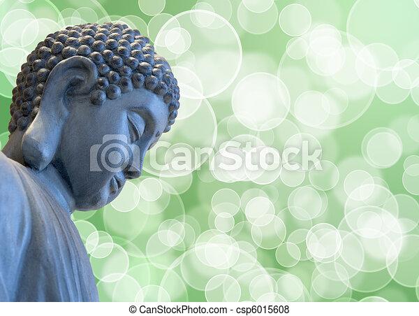 Bronze Zen Buddha Statue Meditating - csp6015608