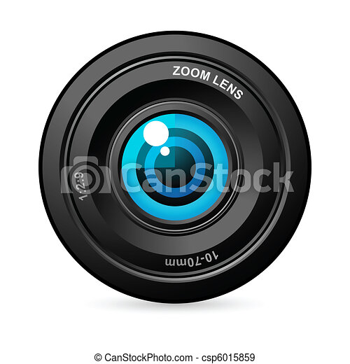Eye in Camera Lens - csp6015859
