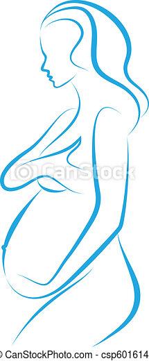 pregnant woman, vector - csp6016145