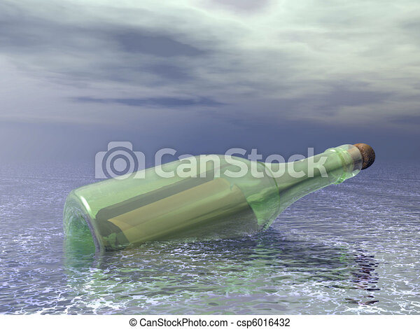 message in a bottle - csp6016432