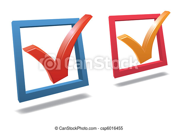 Check box with check mark vector - csp6016455